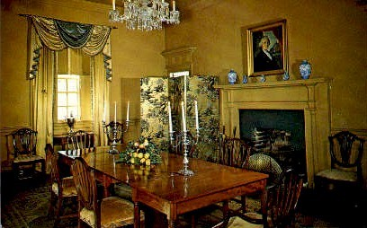 Dining Room, Berkeley Plantation - Williamsburg, Virginia VA Postcard