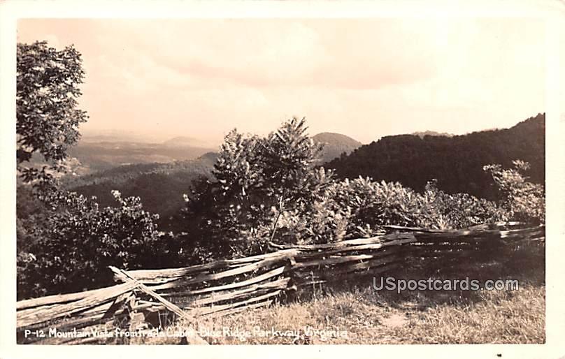 Mountain Vista from Trails Cabin - Blue Ridge Parkway, Virginia VA Postcard
