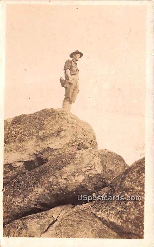 On top of Glossy Peak - Blue Ridge Mountains, Virginia VA Postcard