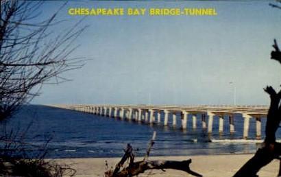 Chesapeake Bay Bridge-Tunnel - Virginia VA Postcard