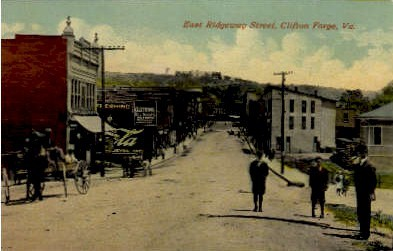 East Ridgeway Street - Clifton Forge, Virginia VA Postcard