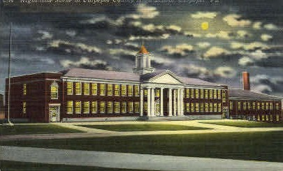 Culpeper County High School - Virginia VA Postcard