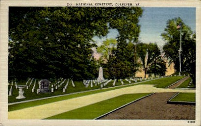 National Cemetery - Culpeper, Virginia VA Postcard