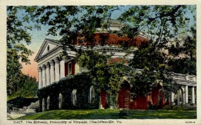 The Rotunda, University of Virginia - Charlottesville Postcard