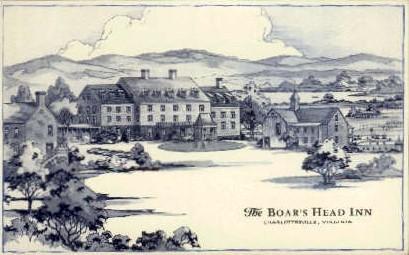 The Boar's Head Inn - Charlottesville, Virginia VA Postcard