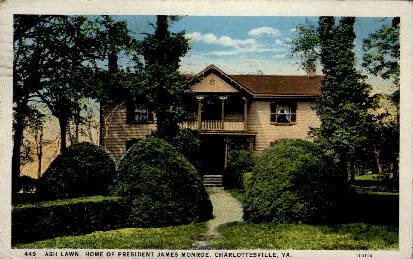 Home of President James Monroe - Charlottesville, Virginia VA Postcard