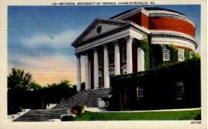 Rotunda, University of Virginia - Charlottesville Postcard