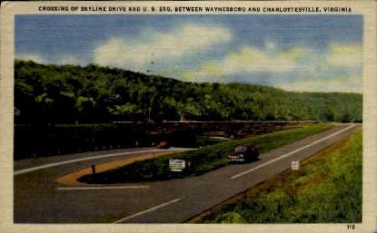 Skyline Drive - Charlottesville, Virginia VA Postcard