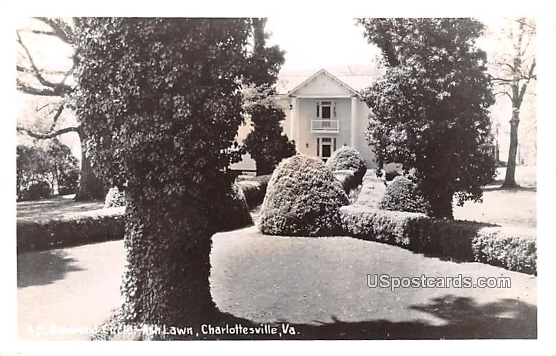Boxwood Circle - Charlottesville, Virginia VA Postcard