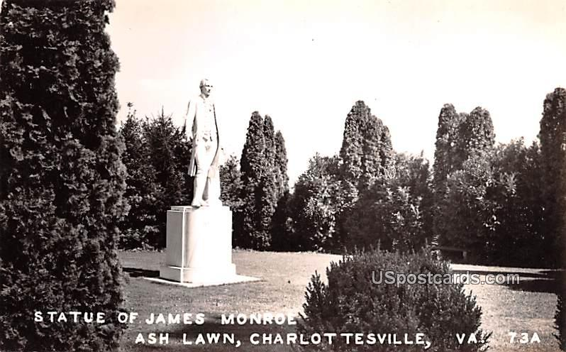 Statue of James Monroe - Charlottesville, Virginia VA Postcard