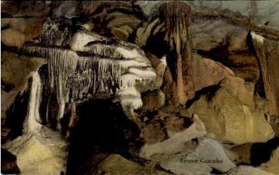 The Frozen Cascades - Endless Caverns, Virginia VA Postcard