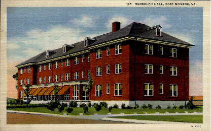 Randolph Hall - Fort Monroe, Virginia VA Postcard