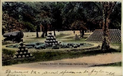 Trophy Point - Fortress Monroe, Virginia VA Postcard