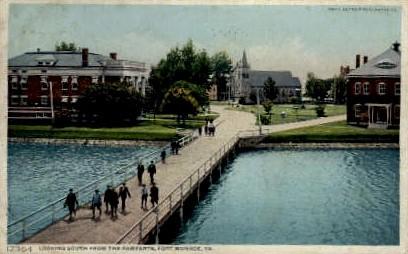The Ramparts - Fort Monroe, Virginia VA Postcard