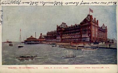 Hotel Chamberlin - Fortress Monroe, Virginia VA Postcard