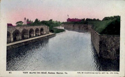 The Moat - Fortress Monroe, Virginia VA Postcard
