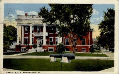 Army Y. M. C. A. - Fort Monroe, Virginia VA Postcard