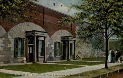 Casemates, Old Prison House - Fortress Monroe, Virginia VA Postcard