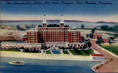 The Chamberlin Hotel - Fort Monroe, Virginia VA Postcard