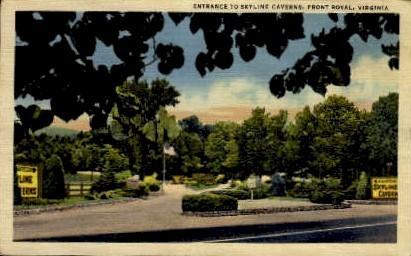 Skyline Caverns - Front Royal, Virginia VA Postcard