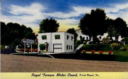 Royal Terrace Motor Court - Front Royal, Virginia VA Postcard
