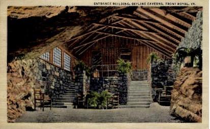 Entrance Building, Skyline Caverns - Front Royal, Virginia VA Postcard