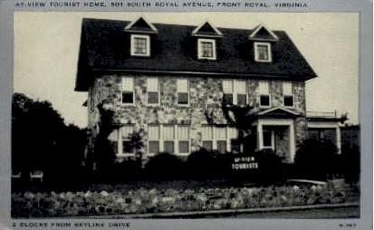 Tourist Home - Front Royal, Virginia VA Postcard