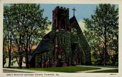 John's Memorial Episcopal Church - Farmville, Virginia VA Postcard