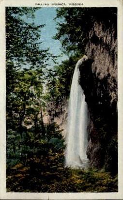 Falling Springs, Virginia Postcard