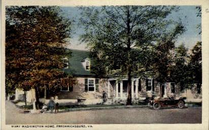 Mary Washington Home - Fredericksburg, Virginia VA Postcard