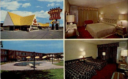 Horne's Motor Lodges - Fredericksburg, Virginia VA Postcard