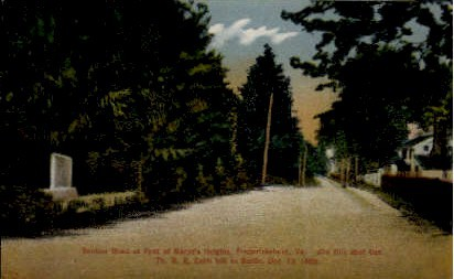Marye's Heights - Fredericksburg, Virginia VA Postcard