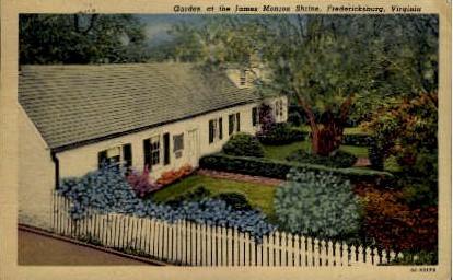 Garden at the James Monroe Shrine - Fredericksburg, Virginia VA Postcard