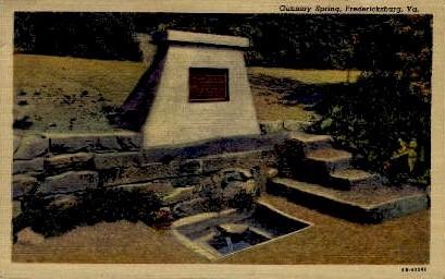 Gunnery Spring - Fredericksburg, Virginia VA Postcard