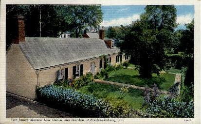 James Monroe Law Office - Fredericksburg, Virginia VA Postcard