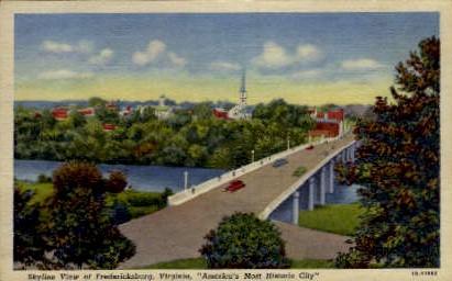 Skyline - Fredericksburg, Virginia VA Postcard