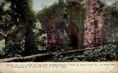 Ruins of Jail - Great Falls, Virginia VA Postcard
