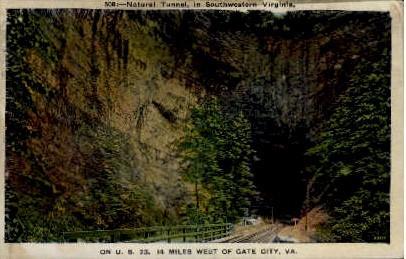 Natural Tunnel - Gate City, Virginia VA Postcard