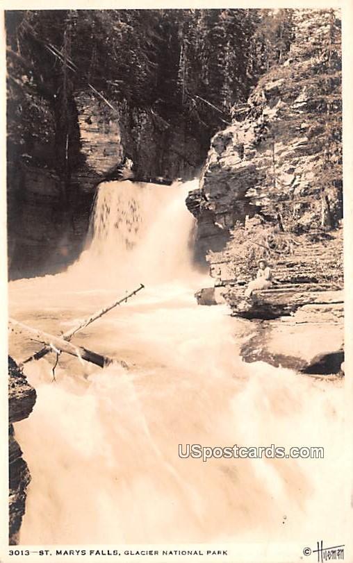 St Marys Falls - Glacier National Park, Virginia VA Postcard
