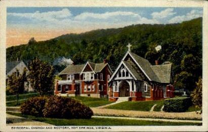 Episcopal Church and Rectory - Hot Springs, Virginia VA Postcard