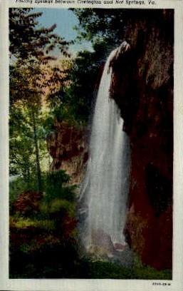 Falling Springs - Hot Springs, Virginia VA Postcard