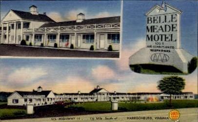 Belle Meade Motel - Harrisonburg, Virginia VA Postcard