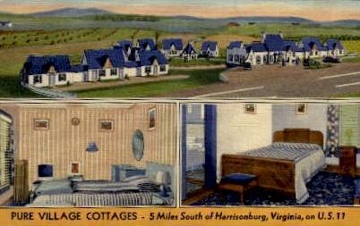 Pure Village Cottages - Harrisonburg, Virginia VA Postcard