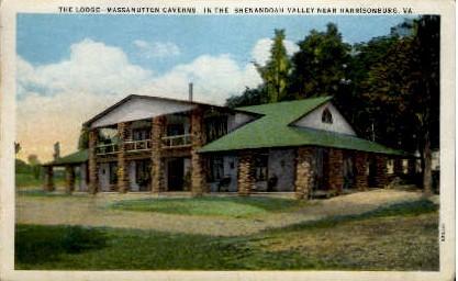 The Lodge-Massanutten Caverns - Harrisonburg, Virginia VA Postcard