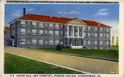 Senior Hall, Madison College - Harrisonburg, Virginia VA Postcard