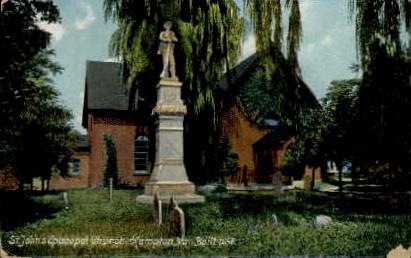 St. John's Episcopal Church - Hampton, Virginia VA Postcard