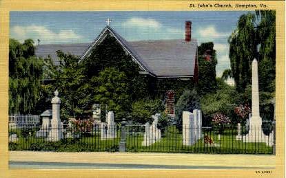 St. John's Church - Hampton, Virginia VA Postcard