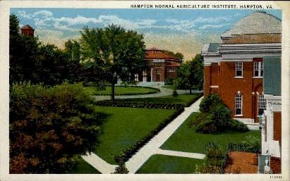 Hampton Normal Agriculture Institute - Virginia VA Postcard