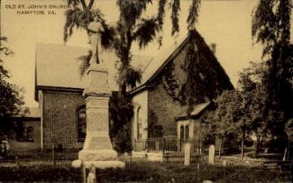Old St. John's Church - Hampton, Virginia VA Postcard