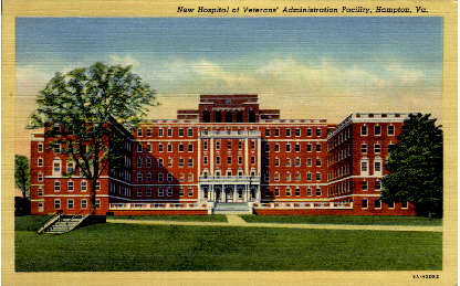 Veterans' Administration Facility - Hampton, Virginia VA Postcard